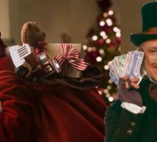 GIVE Like Santa SAVE Like Scrooge